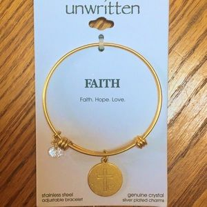MACYS Unwritten FAITH Bracelet NWT